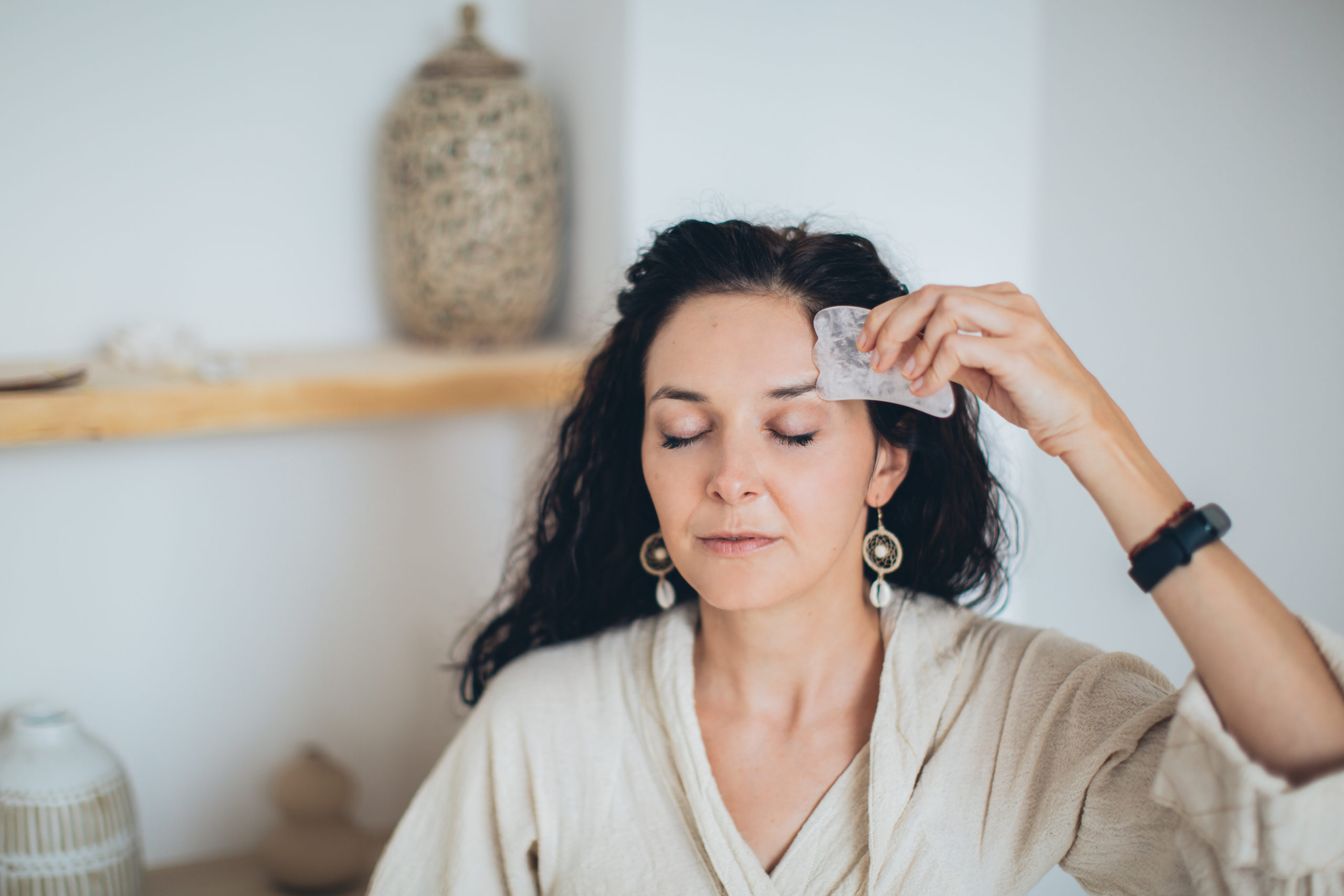 Complementing the Effects of Skincare Products with Gua Sha